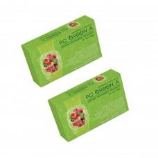 โปกรีนเอ Po Green A ดีท๊อกซ์ปรับสมดุลระบบขับถ่ายควบคุมการทานอาหาร 2 กล่อง 20 ซอง